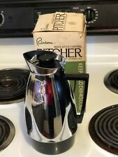 New listing Vintage Riviera Insulated Chrome Pitcher Screw Type Leak Proof Locking Cap Japan