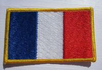 Frankreich France Flagge Aufnäher Patch 5 x 8 cm NEU (A54v)