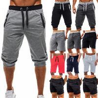 Mens Sports Gym Shorts Summer Jersey Sweat Jogging Running Pants Joggers Bottoms