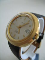 NOS NEW VINTAGE SWISS WATER RESIST AUTOMATIC BIG GALCO MEN'S ANALOG WATCH 1960'S