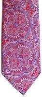 "Bachrach Men's Silk Tie 62"" X 3.25"" Multi-Color Paisleyesque Geometric"