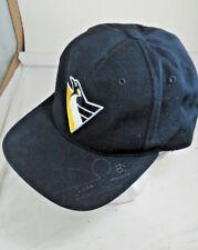 Pittsburgh Penguins autographs Hans Jonsson #8 Snapback trucker cap Mellon Arena