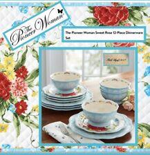 The Pioneer Woman Sweet Rose 12-Piece Dinnerware Set. New In Box!
