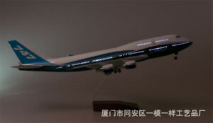 1/150 Boeing 747 Airplane Model 47cm Passanger Plane LED Voice Lamp Airline Toy