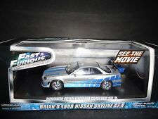 Greenlight Nissan Skyline R-34 Brian's Car Fast and Furious 1/43 Limited Edition