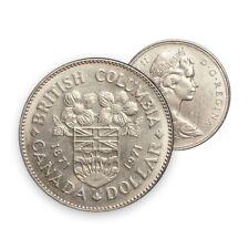 Canada 1971 (1871-) $1 British Columbia Centennial Dollar Coin