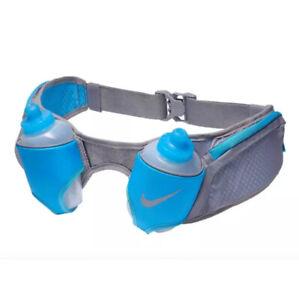 Nike Double Flask Hydration Belt 20 OZ OSFM Dust/LT Blue Fury/Silver AC4052-038.