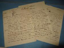 EUGENE HENARD 5 X Manuscrits Autographe Signé 1872 ARCHITECTE EXPOSITION 1900