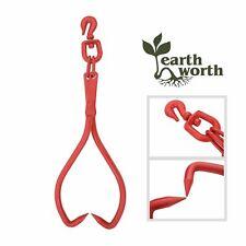 Skidding Swivel Tongs Ring Red 32 Inch Steel Log Lifting Dragging Log Tongs