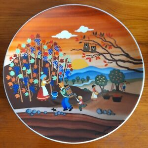 Winterling Plate Marktleuthen Wall Hanging Stunning Colours. Signed.Vintage