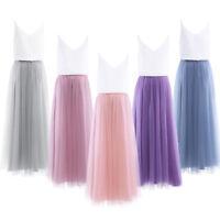 Women Summer Beach Evening Party Dress Maxi Long Skirt Crop Top Two Pieces Sets