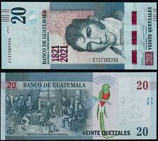 GUATEMALA 20 QUETZALES (P NEW) 2021 COMMEMORATIVE ISSUE UNC