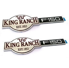 2x OEM Glossy Chrome King Ranch F150 3D Emblems Badges Door N Tailgate for F-150