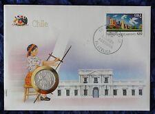 Numisbrief - Chile - mit 1 Centavo Münze - 1975 - + Briefmarke