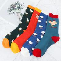 Cute Girl Cartoon Farm Animal Women Cotton Socks Lady Autumn Winter Soft Sock