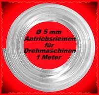 1 Meter, Ø 5mm, belt for lathe, Antriebsriemen, Uhrmacherdrehbank, Emco Unimat
