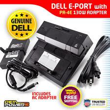 Dell E-Port Docking Station Replicator E5500 E5510 E5520 E5530 +PA-4E AC Adapter