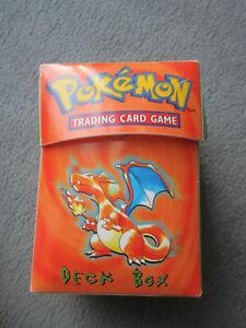 Pokemon TCG Deck Box Glurak 1999 Base Set Wizards Nintendo Ultra Pro, rare