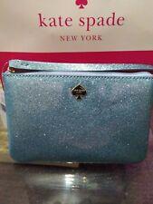 Kate Spade Bethann Glitter Bug Lakes Edge Blue Clutch Wristlet Handbag Wlru3281