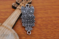 10pcs 28*13mm Charm cate owl pendant Diy Jewelry Bead Making For Bracelet 7167