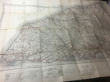 More details for ww1 map france le havre north to quiberville yvetot gsgs 2526 printed 1912 by os
