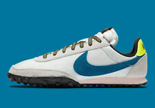 Nike Waffle Racer Running Shoes Summit White Green Abyss DA4655-100 Mens NEW