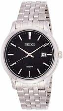 SEIKO SUR293P1 Date Black Dial WR 100m Men's Analogue 2 Year Guar  RRP £220.00