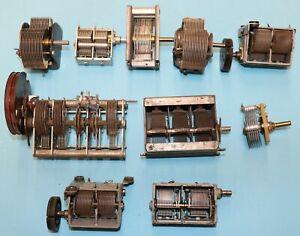 10 verschiedene Drehkondensatoren