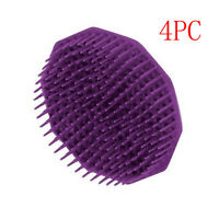 4pcs Silicone Shampoo Scalp Shower Body Washing Hair Massage Massager Brush Comb