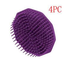 4pcs Silicone Shampoo Scalp Shower Body Washing Hair Massage Massager Brush Comb