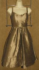 JIM HJELM - Champagne / Taupe - Silky & Satiny Cocktail DRESS size 4 *USA!