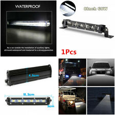 "1Pcs 8""60W 6D Spot Beam Slim LED Work Light Bar Single Row Car SUV Off-Road Lamp"
