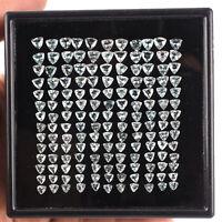 156 Pcs Natural Aquamarine Trillion Cut Sparkling Loose Gemstones Wholesale Lot