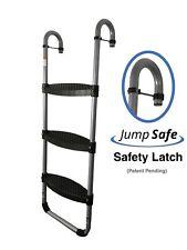 Trampoline Ladder: 3-Steps with Safety Latch by Trampoline Pro Lifetime Warranty
