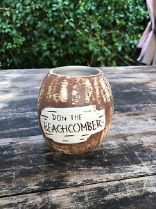 Rare DON The BEACHCOMBER Coconut Barrel Tiki Mug