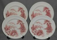 Set (4) Johnson Brothers CASTLE ON THE LAKE PATTERN Dinner Plates ENGLAND