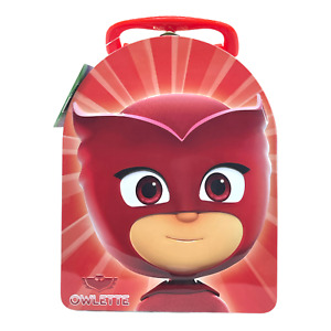 PJ Masks Character Arched Tin Lunch Box Carry All Case Back to School Green NEW