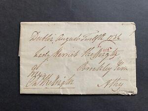 1786 IRELAND STAMPLESS LETTER FREE FRANK SIGNED SKEFFINGTON EARL MASSEREENE L@@K