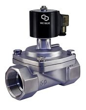"""2"""" Inch Stainless Zero Differential Electric Steam Solenoid Valve NC 110V AC"""