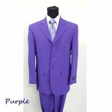 Men's basic 3 button suit come with Pants Included 10 Colors Fortino Landi #802P