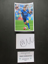 LEICESTER CITY - FOXES MARC ALBRIGHTON HAND SIGNED INDEX CARD w/PHOTO - UACC COA
