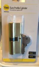 Yale Essentials Euro Profile Cylinder Brass 40/40 Lock Door Home Security