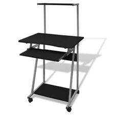 Black/Brown/White Office Computer Desk Corner Student Table Pull-out Tray Monile