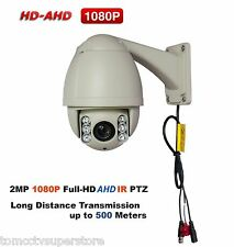 "SMARTRUM 2MP Full HD 1080P AHD 4.5"" Mini Outdoor IR PTZ Camera 10X Optical Zoom"