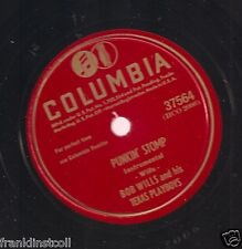 Bob Willis, Texas Playboys on 78 rpm Columbia 37564: Punkin' Stomp/How Can it Be