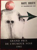 Lithographie Bassiak 1960 Topor Bosc Revue Haute Société Trez Folon Crespi Siné