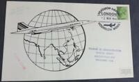 Air France Concorde 203 Far East Sales Tour Flown Cover Heathrow Airport SM21