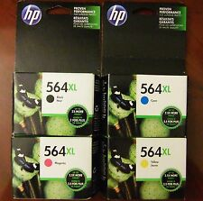 4-Pack HP Genuine 564XL Black Cyan Magenta Yellow Color Ink Photosmart Exp. 2018