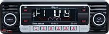 Classic Style Universal AM / FM Radio / CD Player w/ Chrome Face and Black Bezel