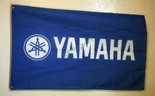 Blue Banner Flag for Yamah Flag Motorcycle Wheeler Wall Deco Garage 3x5ft